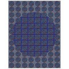 "Michael Zenreich Conceptual Abstract Digital Print ""Confetti Blue Circle'"