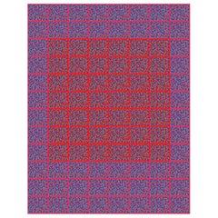 """Michael Zenreich Conceptual Abstract Digital Print """"Confetti Red Square V2"""""""
