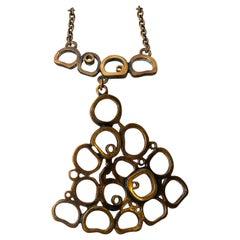 20th Century Modern Pentii Sarpaneva Pendant Necklace Bronze Scandinavian Modern