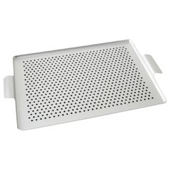 Kaymet, Serving Tray, Silver Anodized Aluminum, Silicone Rubber Grip