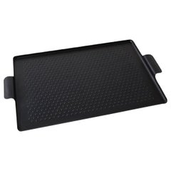 Kaymet, Serving Tray, Black Anodized Aluminium, Silicone Rubber Grip
