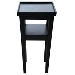 Art Deco Small Black Side Table, circa 1930s