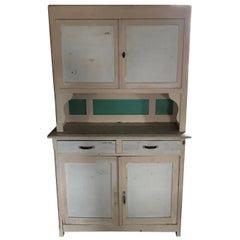 Art Deco Painted Large Vintage Kitchen Dresser