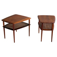Pair of Peter Hvidt and Orla Molgaard Nielsen Tiered Teak End or Side Tables