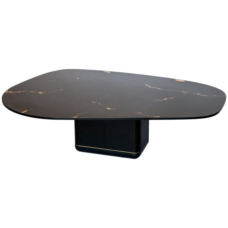 Jasper Coffee Table, Customizable Metal, Wood and Resin For Sale