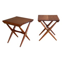 Danish Modern 1960s Side or End Tables in Solid Teak Jens Quistgaard