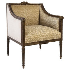 Hand Carved Louis XVI Bergere