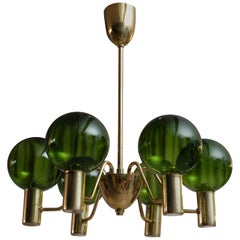 Rare Pair of Hans-Agne Jakobsson Chandeliers T372/6 Patricia, 1960s