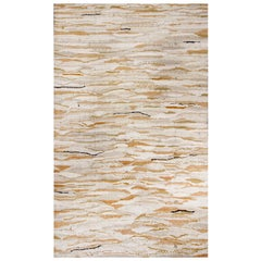Award-Winning Contemporary Neutral Wool and Cotton Rug