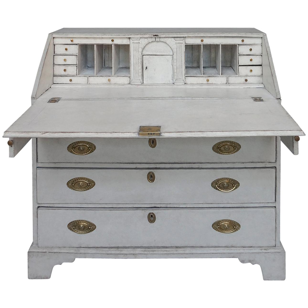 Neoclassical Writing Desk with Egyptian Detail