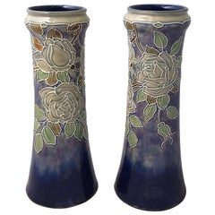 Arts & Crafts Period Vases by Royal Doulton, 'Priced as a Pair'
