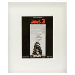 Jaws 2, 1978 Original Vintage Movie Advertisement Art Transparency