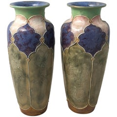 Arts and Crafts Period Vases by Royal Doulton 'Priced as a Pair'