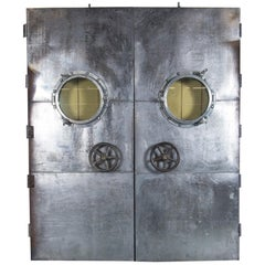 Nautical Porthole-Styled Ship Doors