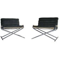 Ward Bennett Brickell Sled Chairs