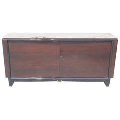 Art Deco Exotic Macassar Ebony Classic Sideboard or Buffet by Maurice Rinck