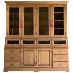 Large Haberdashery Shop Cabinet Solid Pine Apothecary, 20th Century