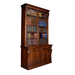 Rosewood Two-Door Library Bookcase