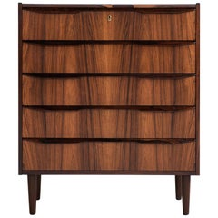 Midcentury Danish Chest of 5 Drawers in Rosewood, 1960s