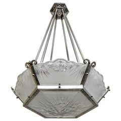 French Art Deco Chandelier by DAUM LORRAIN
