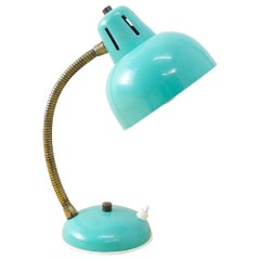 1960s Teal Blue Flexible Table Lamp