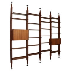 Floor-to-Ceiling Bookcase by Franco Albini Vintage Design, Italy, 1960s