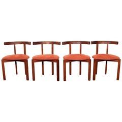 Midcentury Modern Design Teak Wooden Chairs FF Caffrance 1960