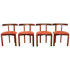 FF Caffrance 1960 Modern Design Teak Wooden Chairs
