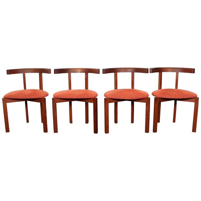 FF Caffrance 1960 Modern Design Teak Wooden Chairs For Sale