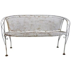 Wrought Iron Sofa Settee Attributed to Salterini