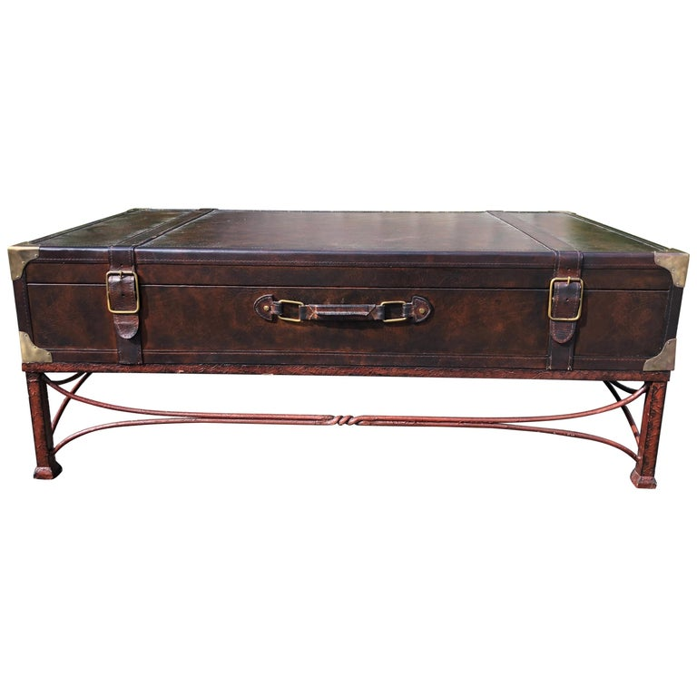 Masculine Handsome And Rich Ralph Lauren Style Trunk Coffee Table