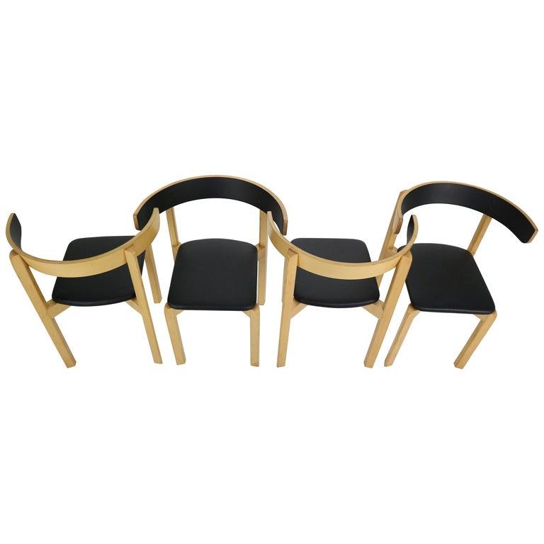 Set of 4 Dining Room Chairs by Jørgen Gammelgaard for Schiang Møbler, Denmark For Sale