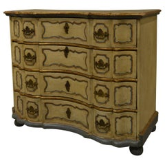 Early 19th Century Painted Serpentine Commode
