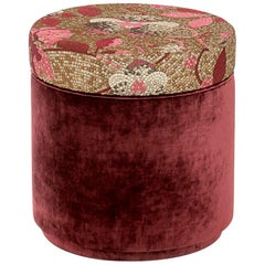 Ottoman Frame Made of Solid Timber and  Wood in Fabric or Leather Upholstered