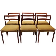Set of Dining Room Chairs of Rosewood, Knud Færch, 1960s