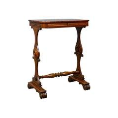 Antique Side Table, English, William IV, Companion, Mahogany, circa 1835
