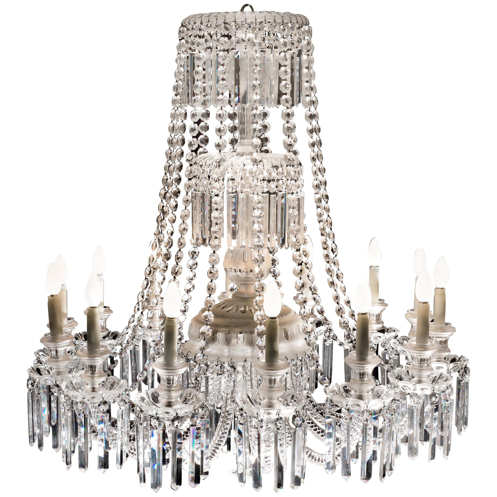 Outstanding 19th Century French Crystal Chandelier, 1870s