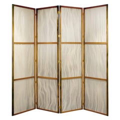 Tall Screen with Inset Horse Hair Panels, 1960s