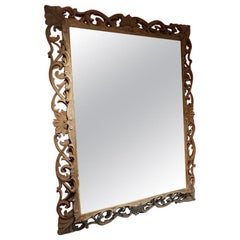 French Weathered Oak Mirror