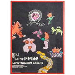Large Niki de Saint Phalle Exhibition Poster