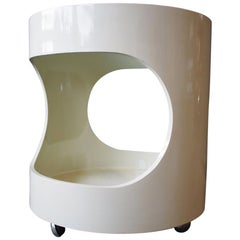 """Space Age Side Table """"Luna"""" with Glass Top by Opal, Germany"""