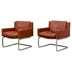 Executive Cantilever Lounge Chairs by Robert Haussmann for Desede, 1960s