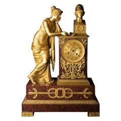 Empire Ormolu Mantel Clock, circa 1820