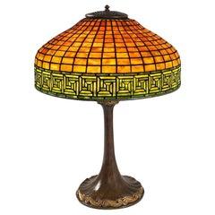 "Tiffany Studios New York ""Greek Key"" Table Lamp"