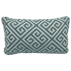 Thibaut 'Mykonos Key' Lumbar Pillow in Aqua and White