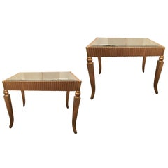 Pair of Gilt Side Tables