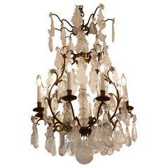 French Rock Crystal Chandelier, circa 1880