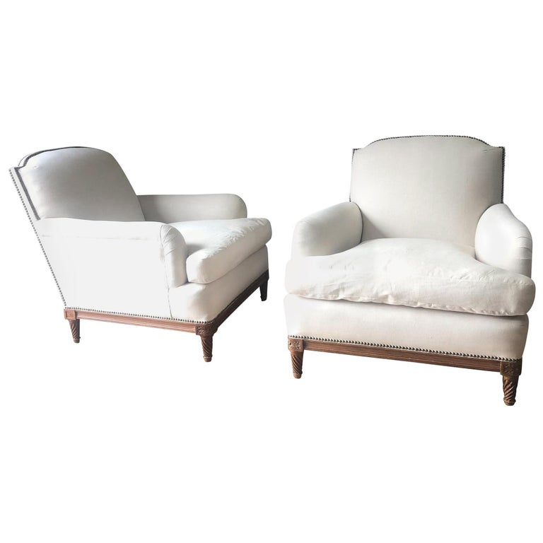 Maison Jansen club chairs, mid-20th century, offered by Balsamo