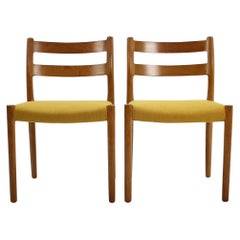 1960 Oak Dining Chairs by N.O. Møller, Set of 4