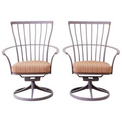 Pair of O.W Lee Monterra Swivel Rocker Lounge Chairs